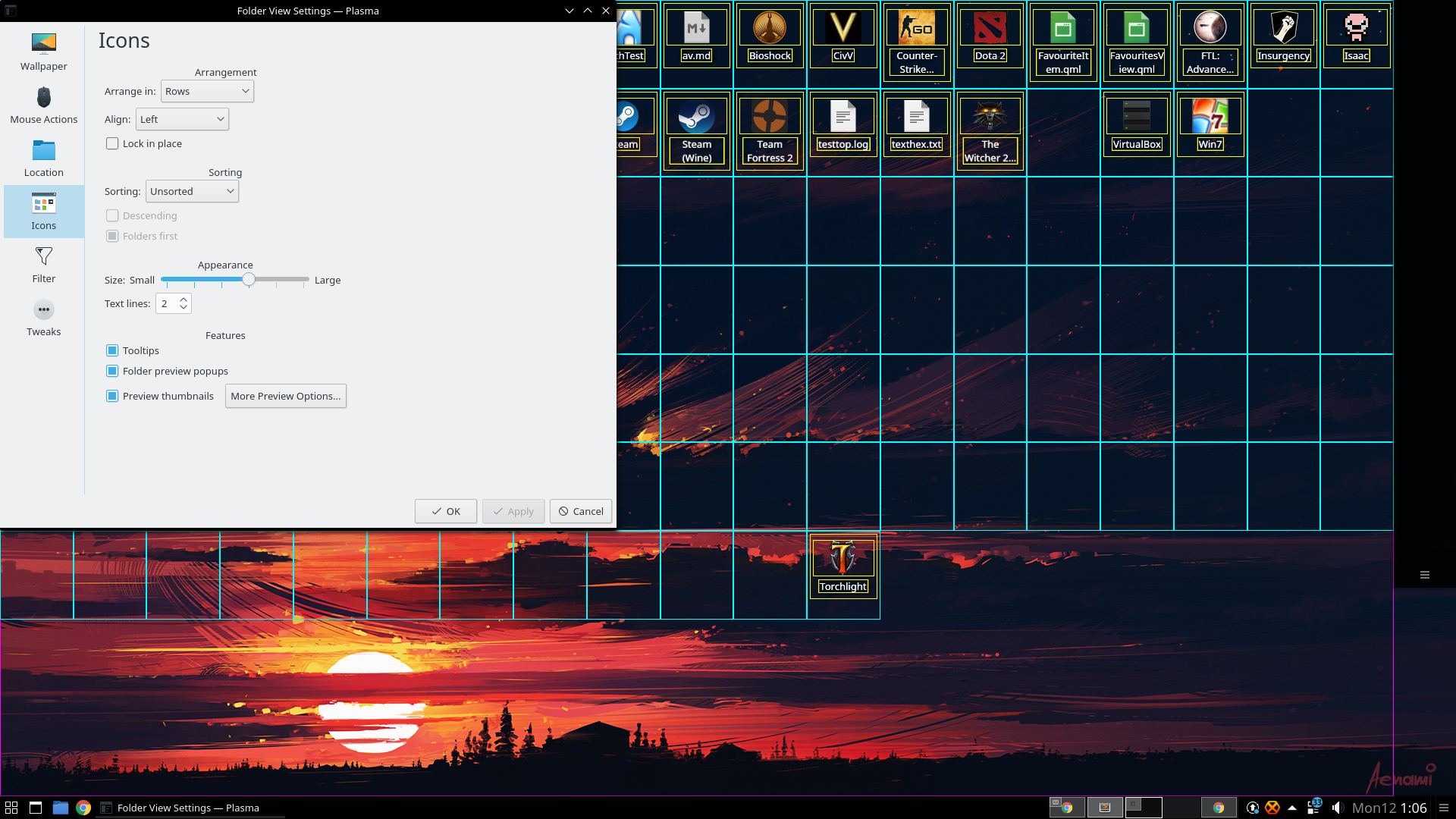 ⚙ D6188 [Desktop] Pad cellWidth/cellHeight with the extra space