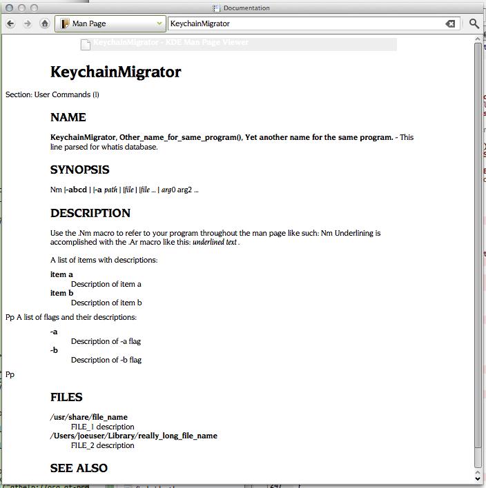 ⚙ D8211 KDevelop/Documentation : implementation of a