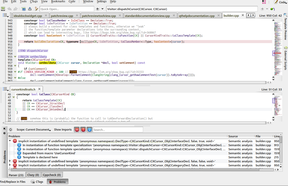 ⚙ D15530 kdev-clang : somewhat more complete ObjC(++) support
