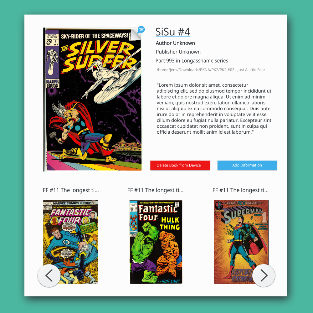 ❦ M39 About Book - Peruse Comic Book Reader