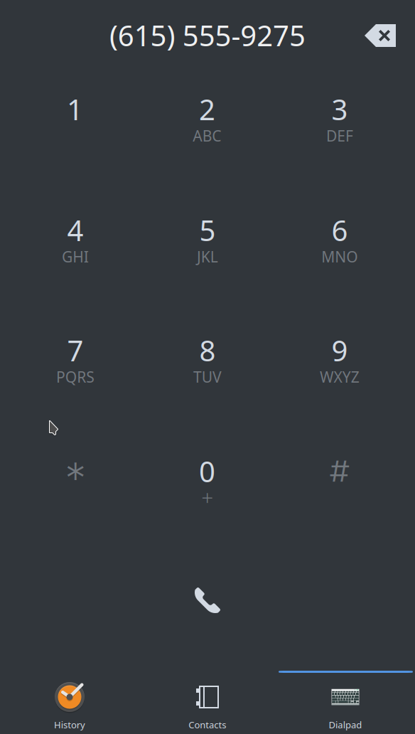 ⚙ D13936 Improve dialer UI and format phone number
