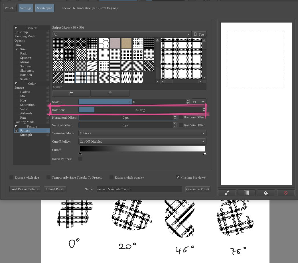 how to use patterns in krita