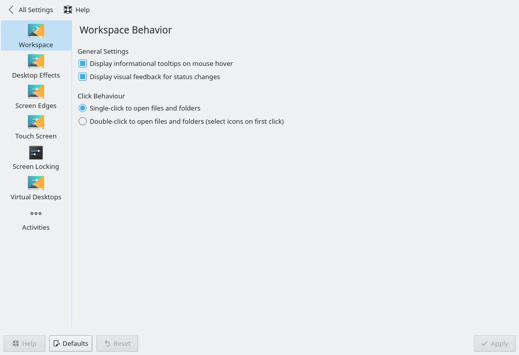 This Week in KDE, Part 2 : OYLG, Workspace KCM, Single