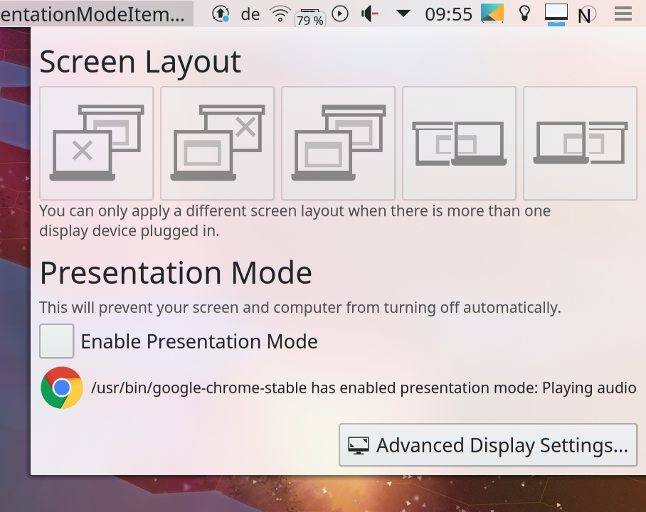 ⚙ D14855 Add applet with screen layouts and presentation mode