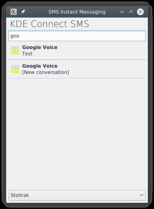 ⚙ D17214 GCI [KDE Connect] Start New Conversation in
