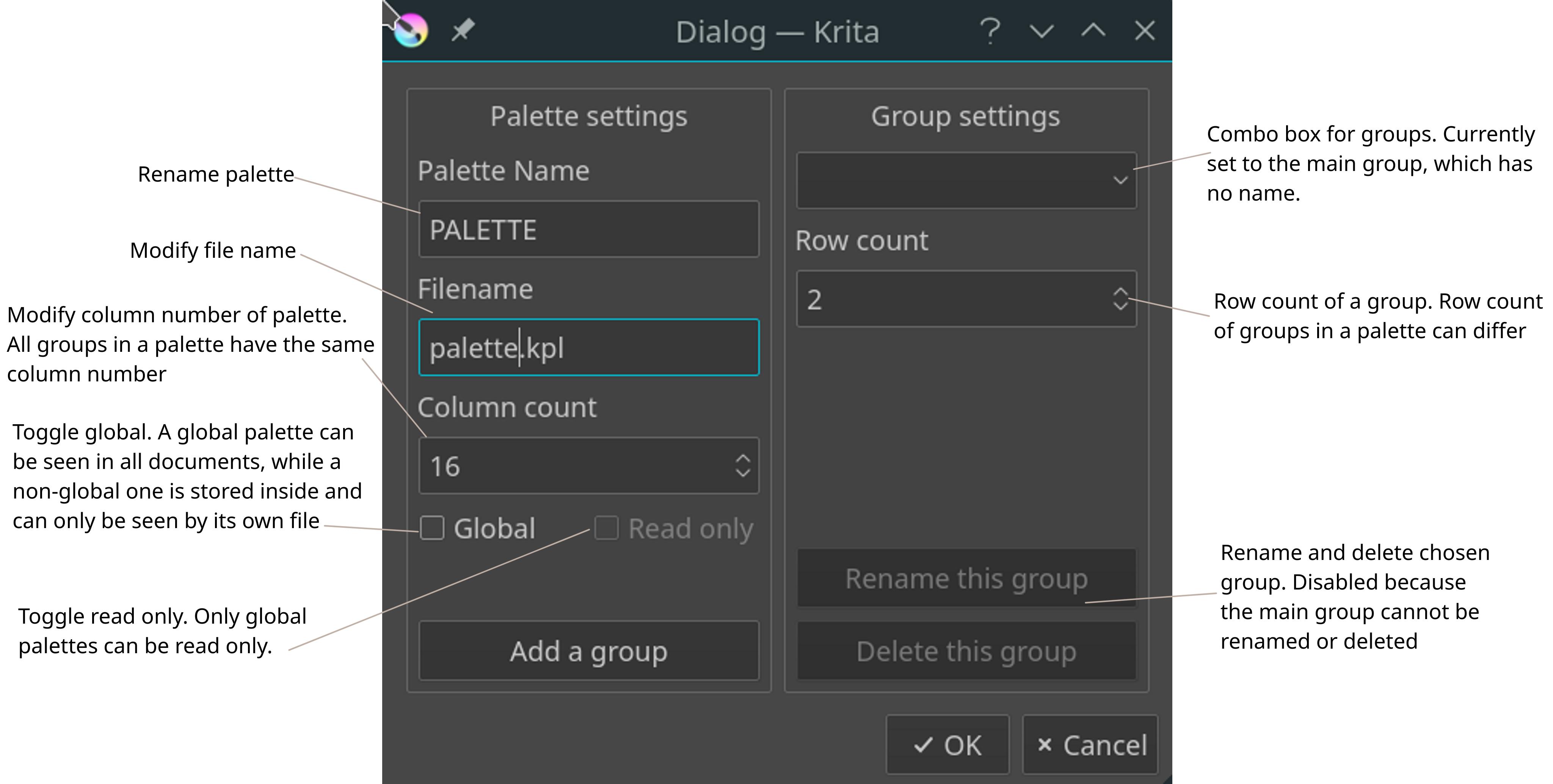 ⚙ D14815 New Palette Docker for Krita (T8646)