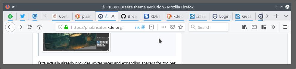 ⚓ T10891 Breeze theme evolution